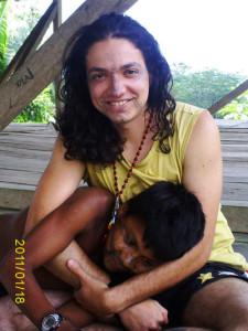 Morando com a etnia amazônica Kantuash Shuar. Verão de 2011. Fotografia: Lina Marcela Arredondo.